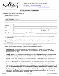 "Form 521 ""Statutory Agent Update"" - Ohio"