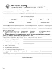 "Part I ""New Education Program Proposal Application"" - Ohio"