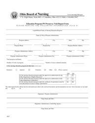 "Form A ""Education Program Pn Presurvey Visit Report Form"" - Ohio"