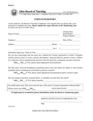 """Form 1 """"Employer Report"""" - Ohio"""
