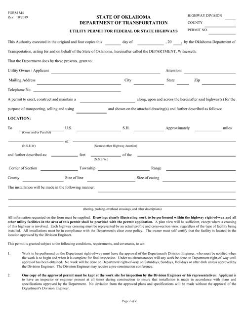 Form M4  Printable Pdf