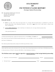 """SOS Form 0044B """"Statement of Fictitious Name Report (Foreign Limited Partnership)"""" - Oklahoma"""