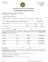 "Form W4503 ""Change Business Address for Broker"" - Oklahoma"