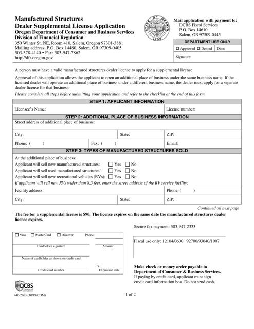 Form 440-2963  Printable Pdf