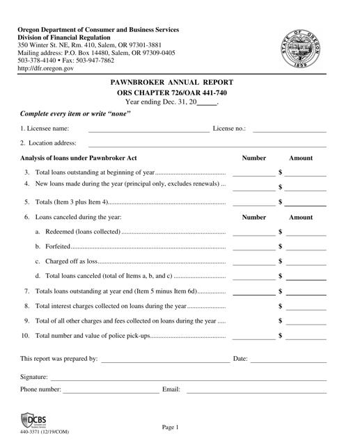 Form 440-3371 Printable Pdf