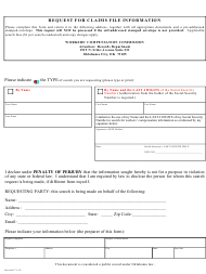 """Request for Claims File Information"" - Oklahoma"