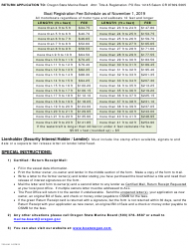 """Form 250-041 """"Oregon Lost or Replacement Boat Title Application"""" - Oregon, Page 2"""