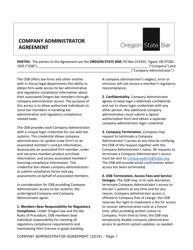 """Company Administrator Agreement"" - Oregon"