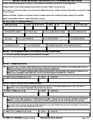 """AF Form 171 """"Request for Driver Training and Addition to U.S. Government Driver's License"""""""