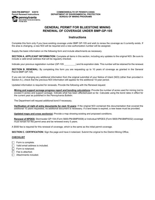 Form 5600-PM-BMP0027 Printable Pdf