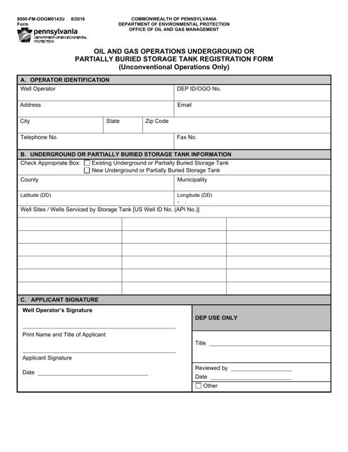 Form 8000-FM-OOGM0143U  Printable Pdf