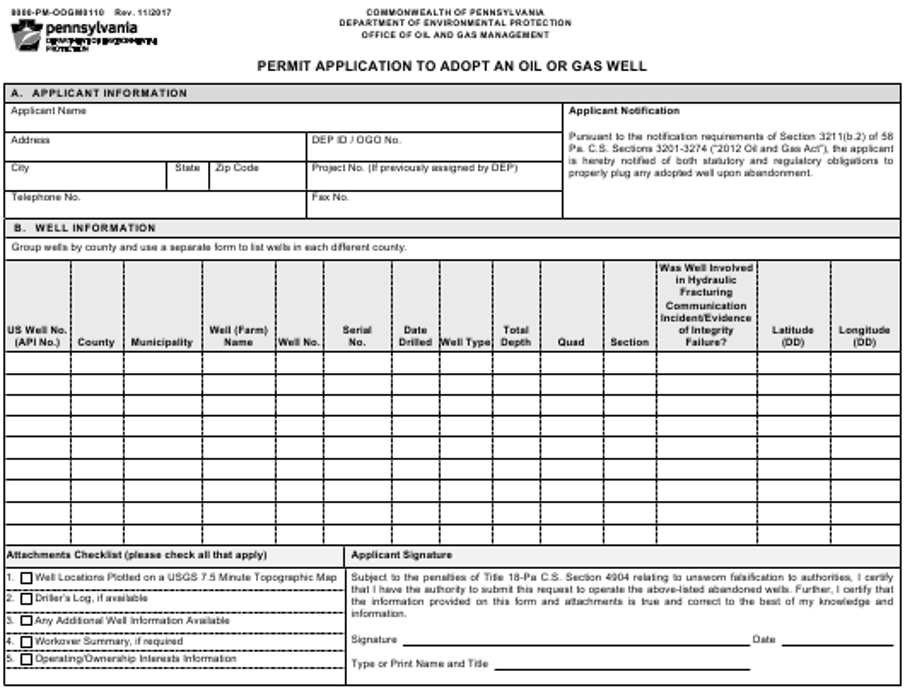 Form 8000-PM-OOGM0110  Printable Pdf