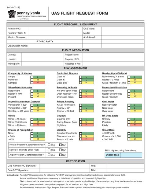 Form AV-14  Printable Pdf
