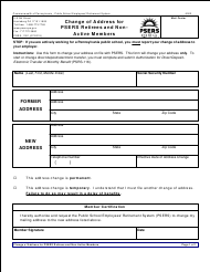 """Form PSRS-1301 """"Change of Address for Psers Retirees and Non-active Members"""" - Pennsylvania"""