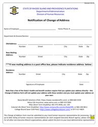 """Notification of Change of Address"" - Rhode Island"