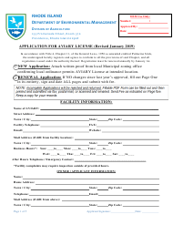 """""""Application for Aviary License"""" - Rhode Island"""