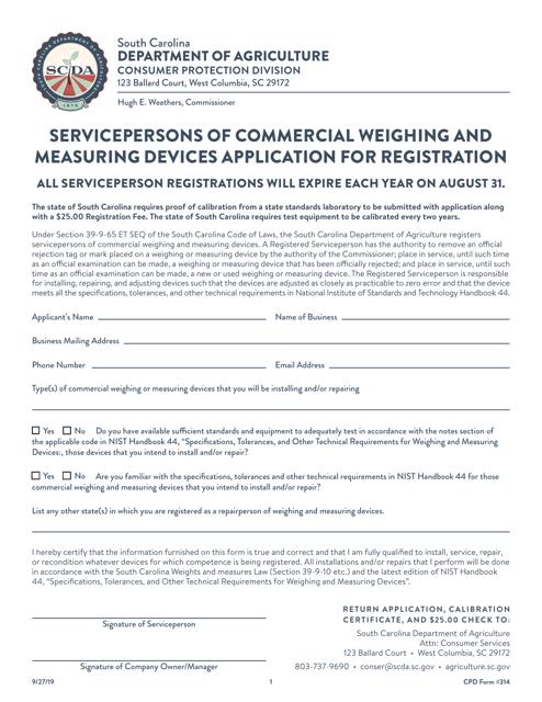 CPD Form 314  Printable Pdf