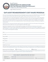 """Gap Audit Reimbursement Cost Share Program"" - South Carolina"