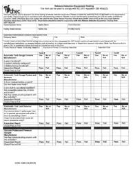 "DHEC Form 3188 ""Release Detection Equipment Testing"" - South Carolina"