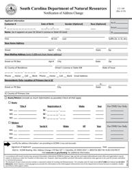 "Form CU-100 ""Notification of Address Change"" - South Carolina"