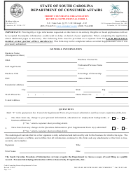 "Form A ""Credit Counseling Organization Renewal Supplemental Form"" - South Carolina"