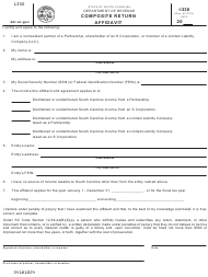"Form I-338 ""Composite Return Affidavit"" - South Carolina"