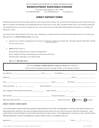 """Direct Deposit Form"" - South Dakota"