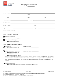 "Form PH-4236 ""Invalid Service Audit"" - Tennessee"