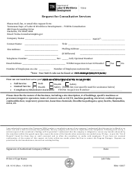 """Form LB-1010 """"Request for Consultative Services"""" - Tennessee"""