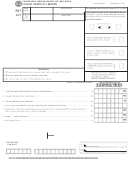 "Form PRV435 (RV-R0020020) ""Fantasy Sports Tax Return"" - Tennessee"