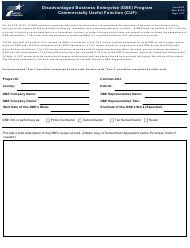 "Form 2182 ""Dbe Program Commercially Useful Function (Cuf)"" - Texas"