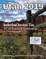"Instructions for Form TC-40 ""Utah Individual Income Tax Return"" - Utah, 2019"