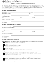 "Form ID1200 ""Power of Attorney for Unemployment Insurance"" - Washington"
