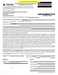 "Form APR-622-190 ""Appraisal Management Company $100,000 Surety Bond"" - Washington"