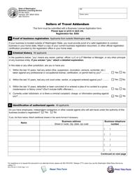 "Form BLS-700-322 ""Sellers of Travel Addendum"" - Washington"
