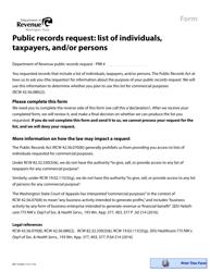 "Form REV10 0030 ""Declaration of Non-commercial Purpose"" - Washington, 2019"