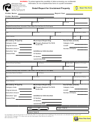 "Form REV80 0008 ""Detail Report for Unclaimed Property"" - Washington"