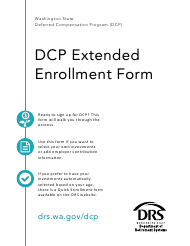 "Form DRS D112 ""Dcp Extended Enrollment Form"" - Washington"