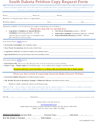 """South Dakota Petition Copy Request Form"" - South Dakota"