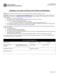 "Form K-908-2245 ""Referral to Intensive Psychiatric Transition Program"" - Texas"
