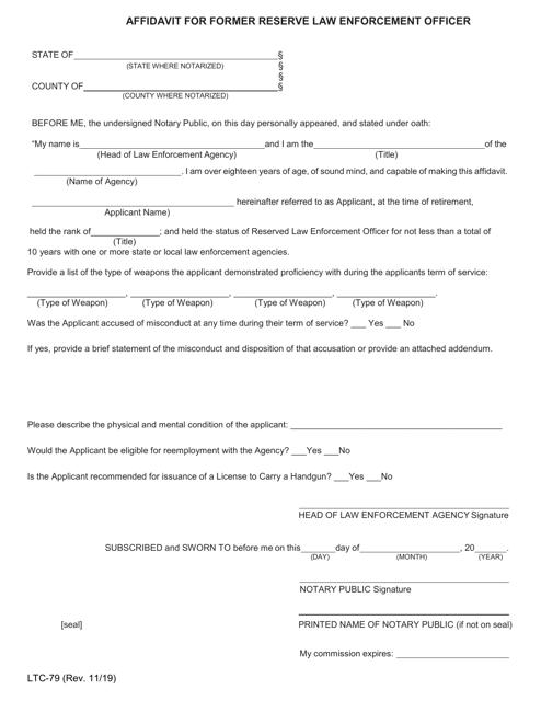 Form LTC-79  Printable Pdf