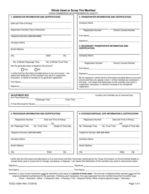 Form 10304  Printable Pdf