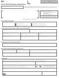 "Form AP-217 ""Texas Well Exemption Application"" - Texas"