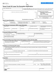 "Form AP-216 ""Texas Crude Oil Lease Tax Exemption Application"" - Texas"