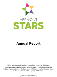 """Stars Annual Report Form"" - Vermont"