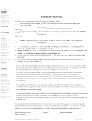 "Form 500-00421 ""Notice of Violation"" - Vermont"