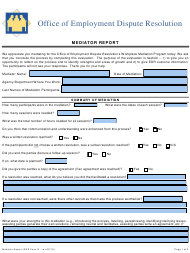 "EDR Form G ""Mediator Report"" - Virginia"