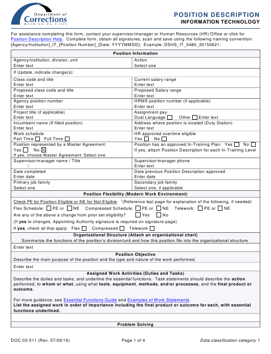 Form DOC03-511  Printable Pdf