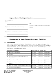 "Form FL Non-Parent415 ""Response to Non-parent Custody Petition"" - Washington"