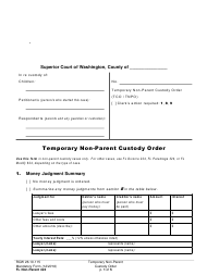 "Form FL Non-Parent424 ""Temporary Non-parent Custody Order"" - Washington"